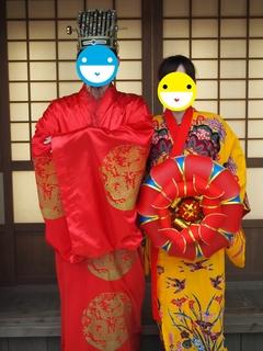 琉球村で貸し衣装撮影